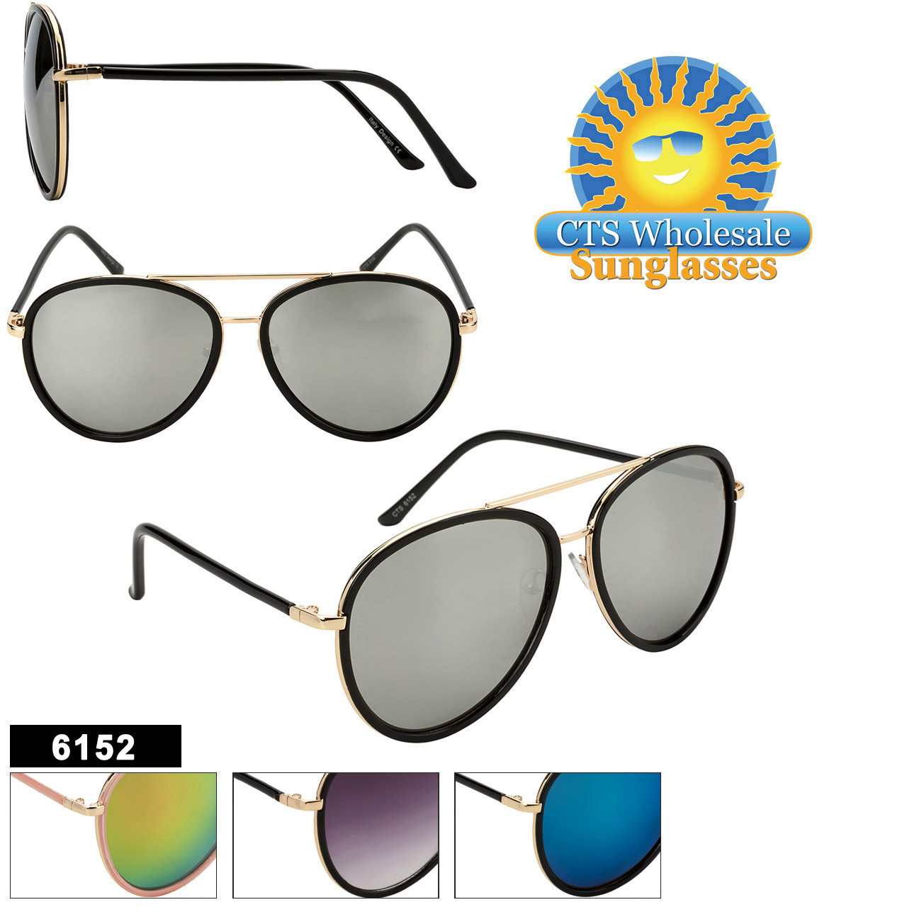 Wholesale Fashion Aviators - Style #6152
