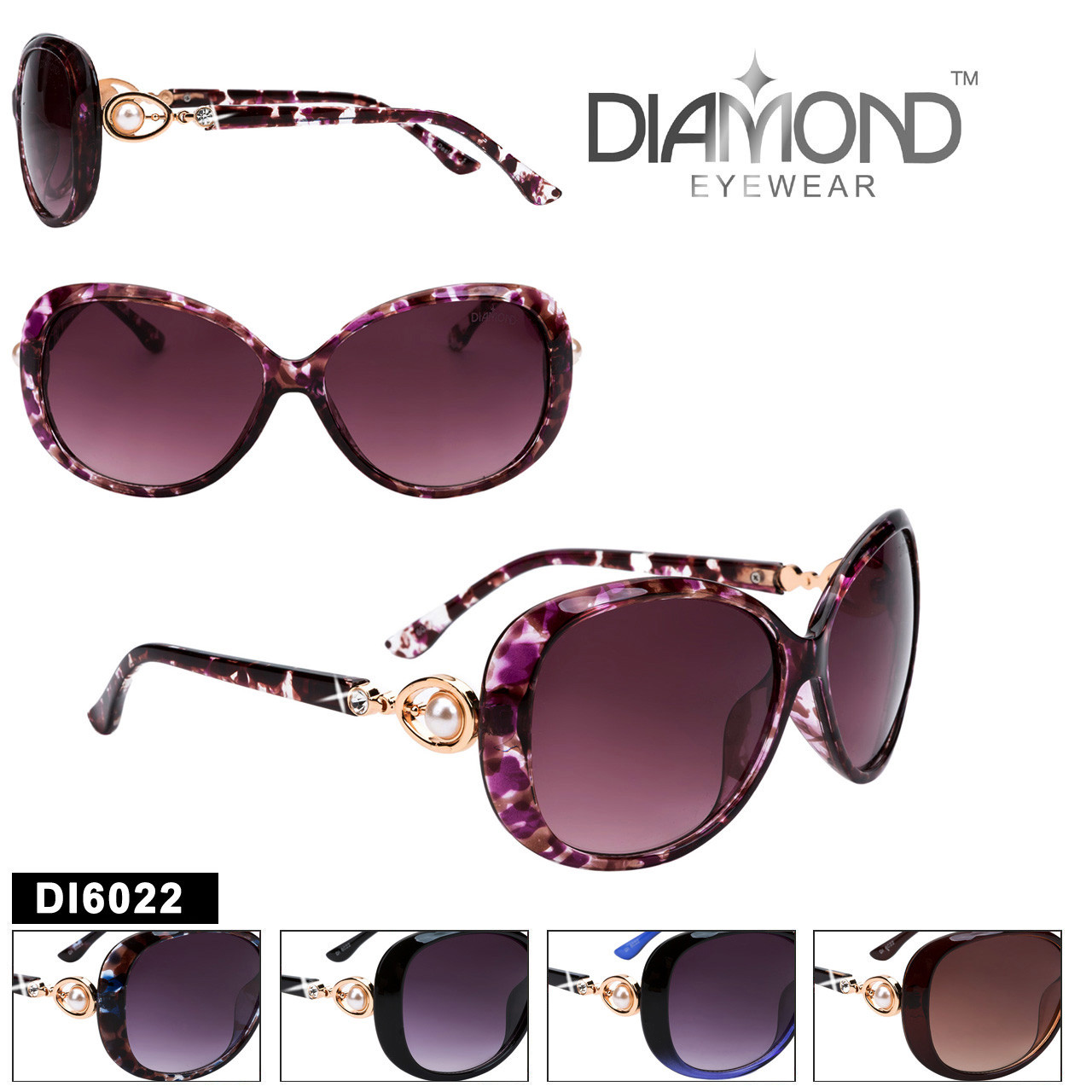 Diamond™ Rhinestone Sunglasses - DI6022