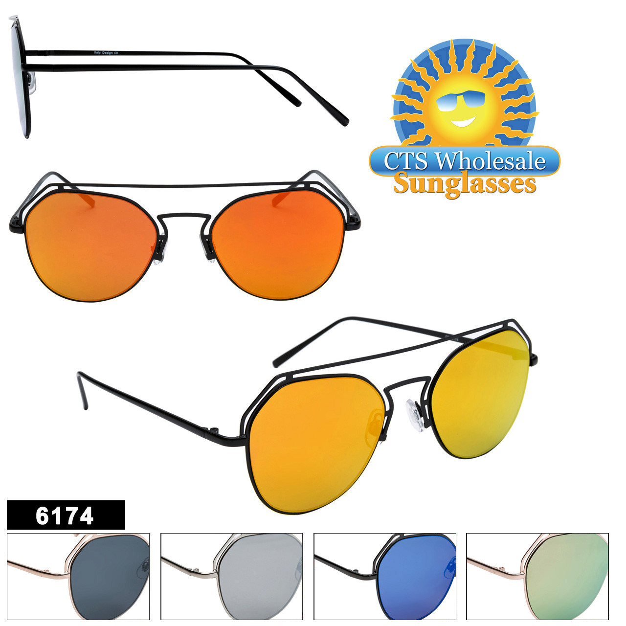Bulk Mirrored Sunglasses - Style #6174