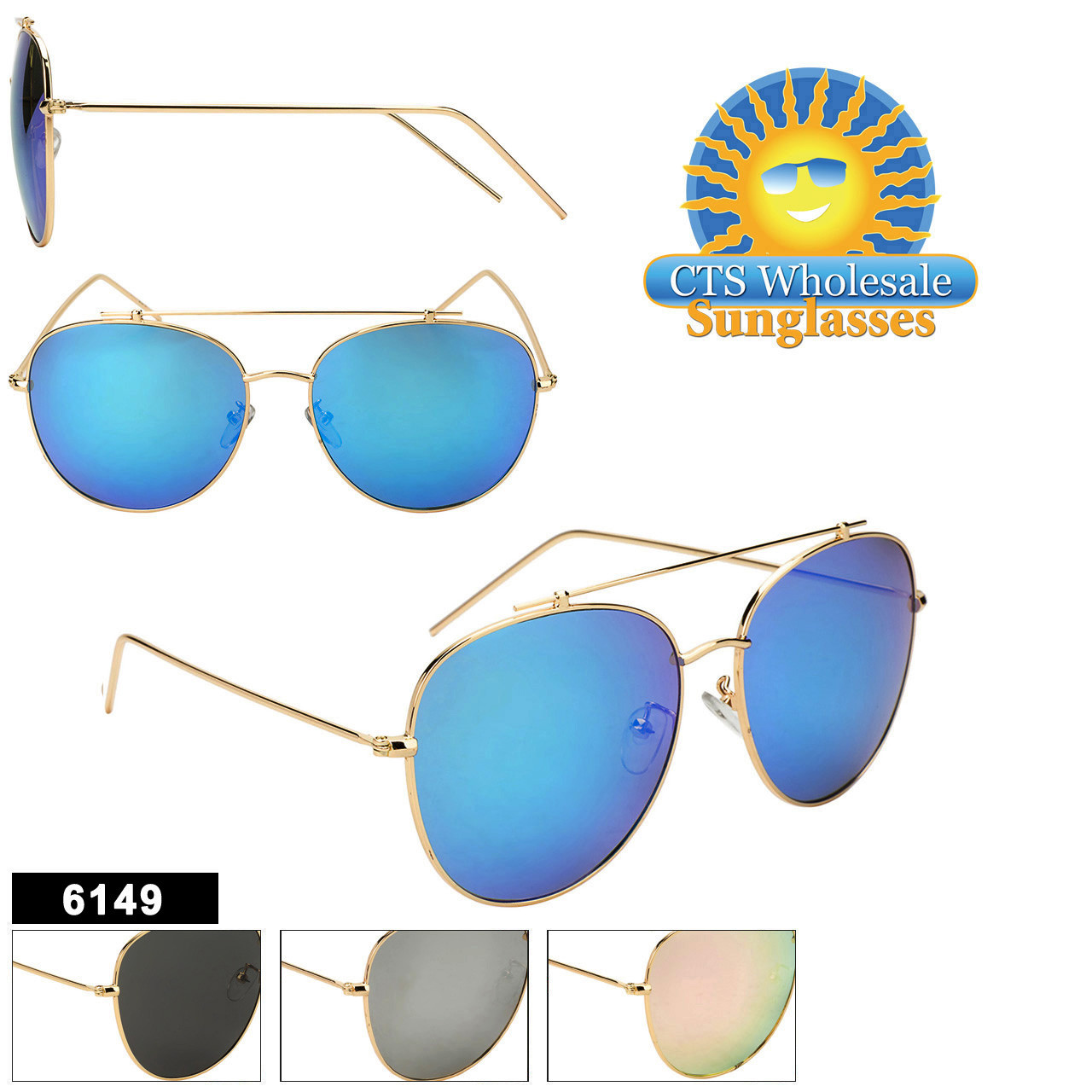 c7496fc2433a8 Wholesale Aviator Sunglasses - Style  6149