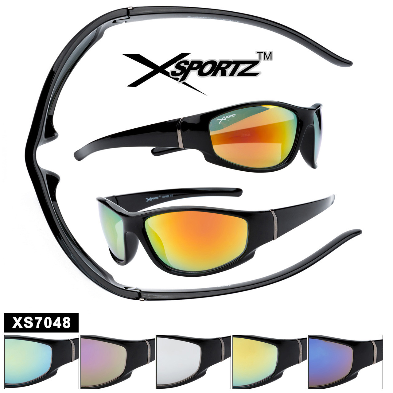 Bulk Xsportz™ Sports Sunglasses XS7048
