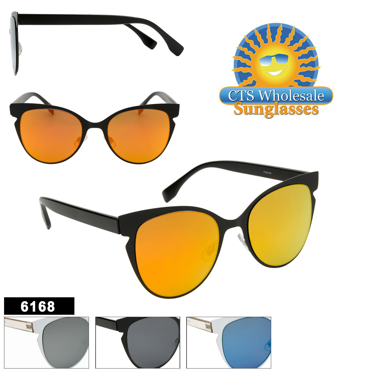 Bulk Cat Eye Sunglasses - Style #6168
