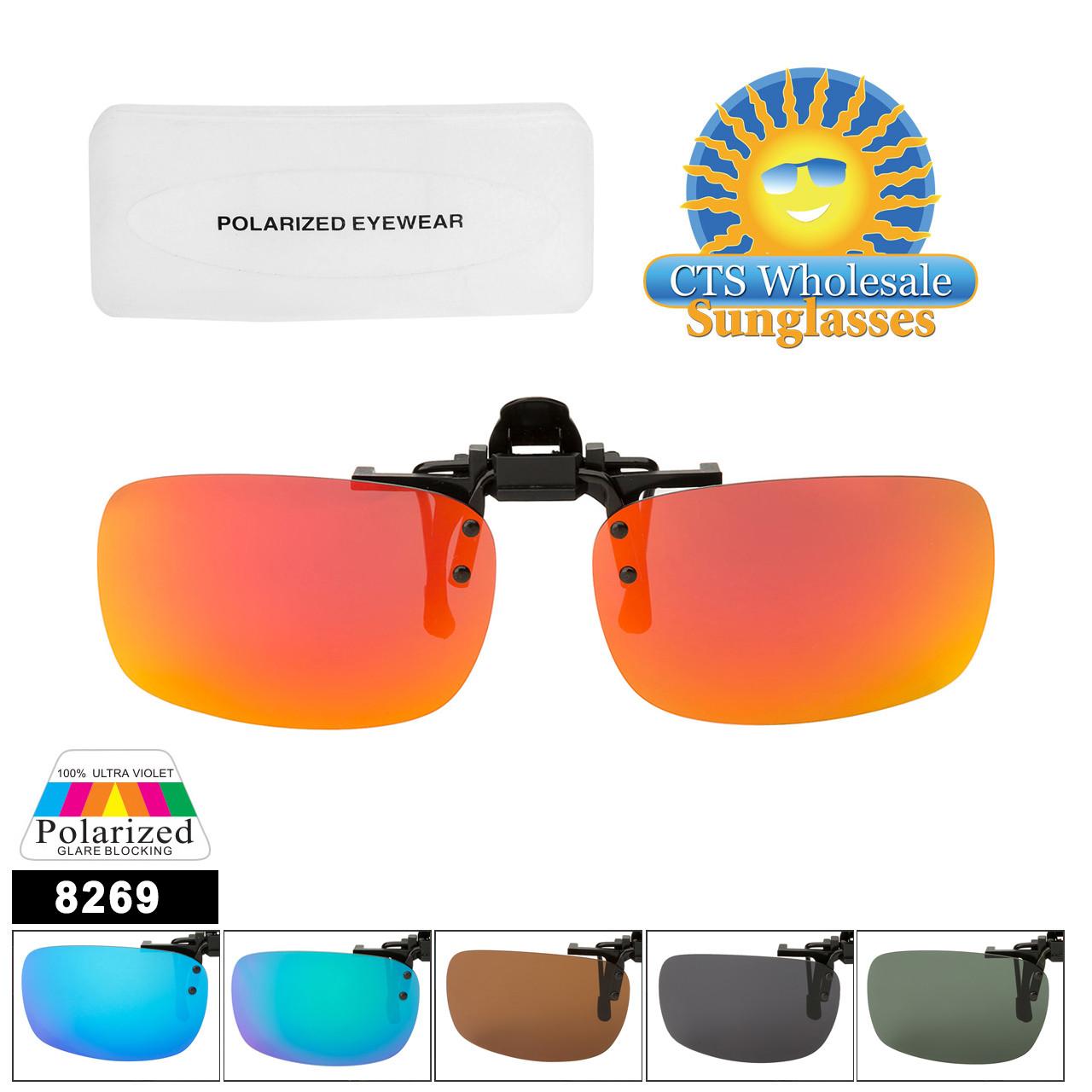 79c639baf8 Clip On Sunglasses Wholesale with Polarized Lens 8269