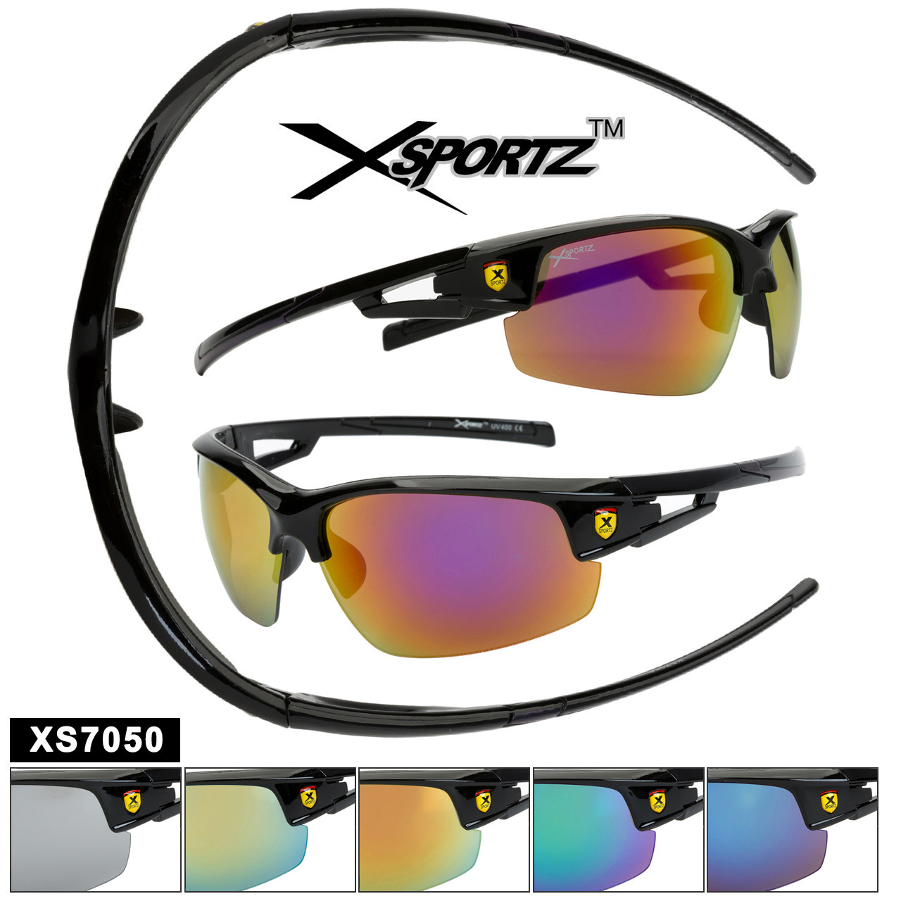 Sports Sunglasses in Bulk - Style XS7050