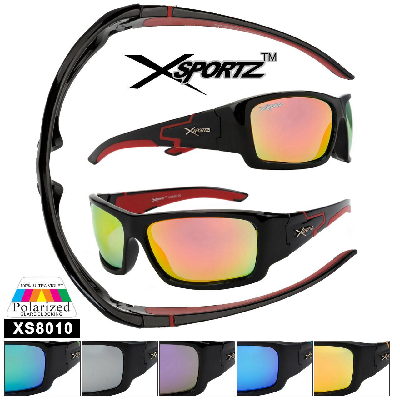 Polarized Xsportz™ Wholesale Sunglasses  - Style XS8010 (Assorted Colors) (12 pcs.)