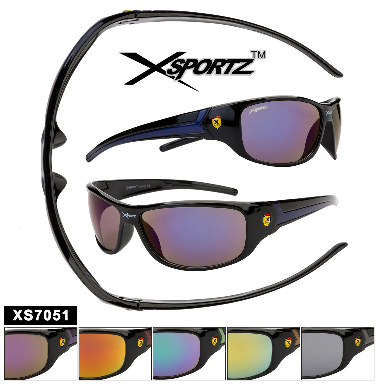 Sports Sunglasses by the Dozen - Style XS7051