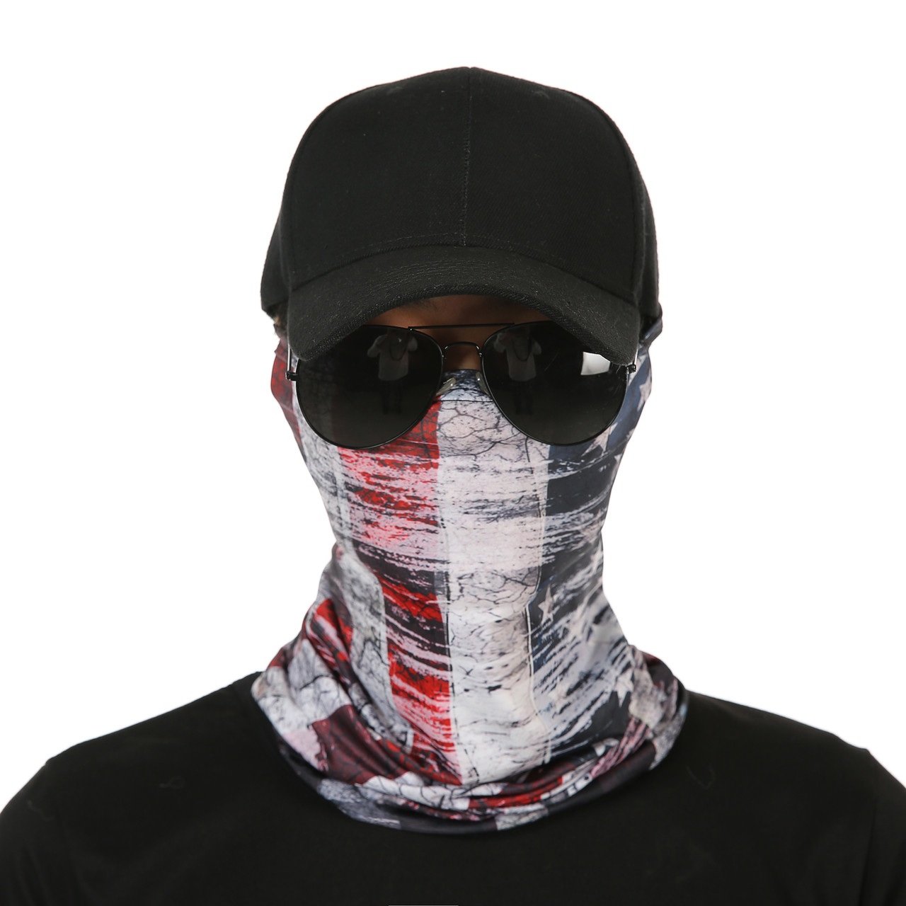 American Flag Gaiter Face Mask UV Protective