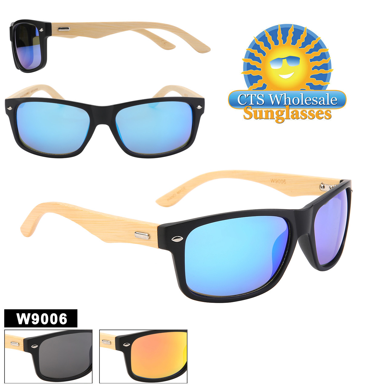 Stylish Bamboo and Recycled plastic sunglasses.  Unisex style that is perfect for everyone.