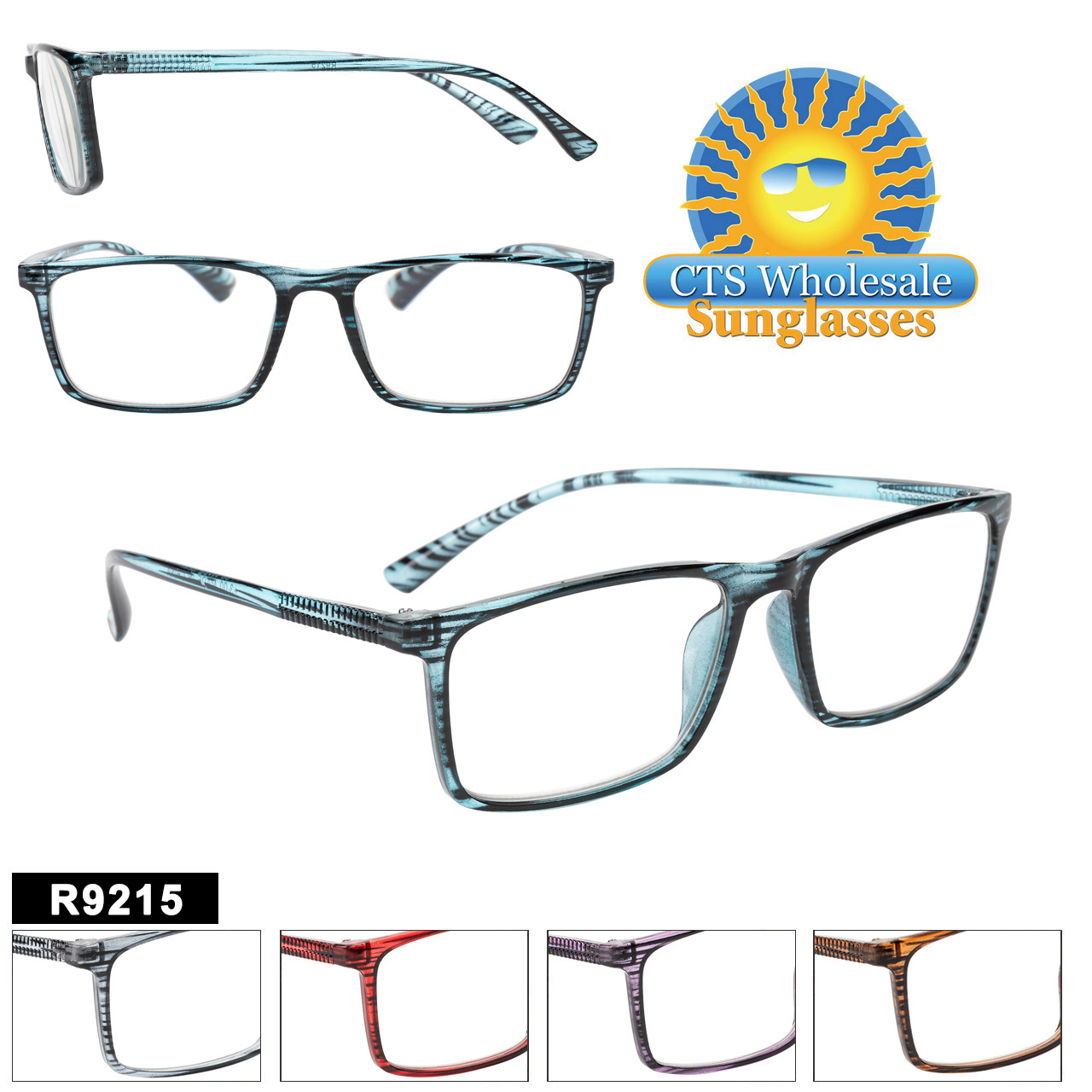 Great Larger plastic framed Readers in a Classic style.  5 Colors to choose from and a variety of powers.