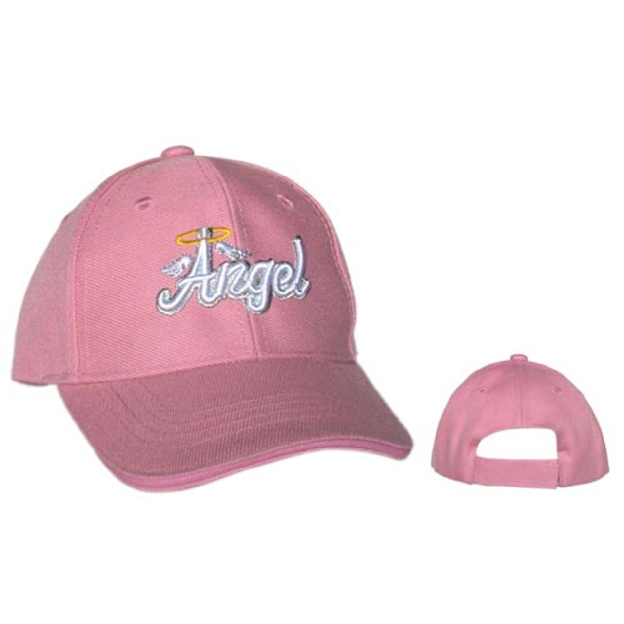 "Wholesale Kids Infant Sized Baseball Cap ""Angel"" C1053 Pink"