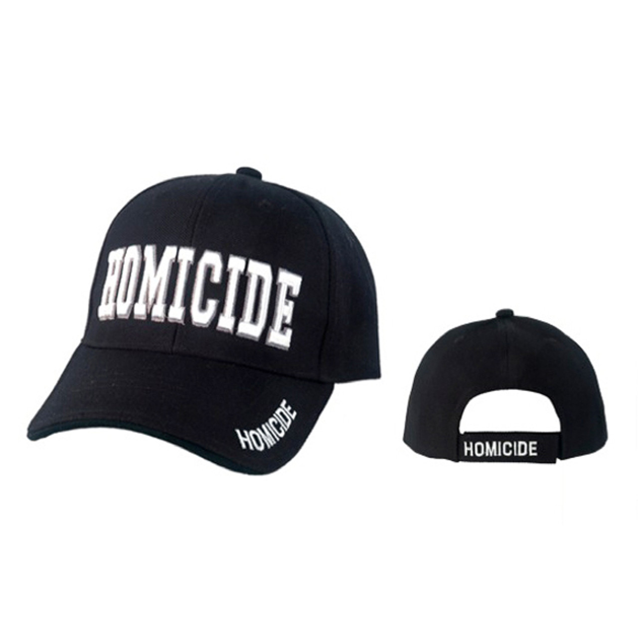 Black Homicide Baseball Hats C1045
