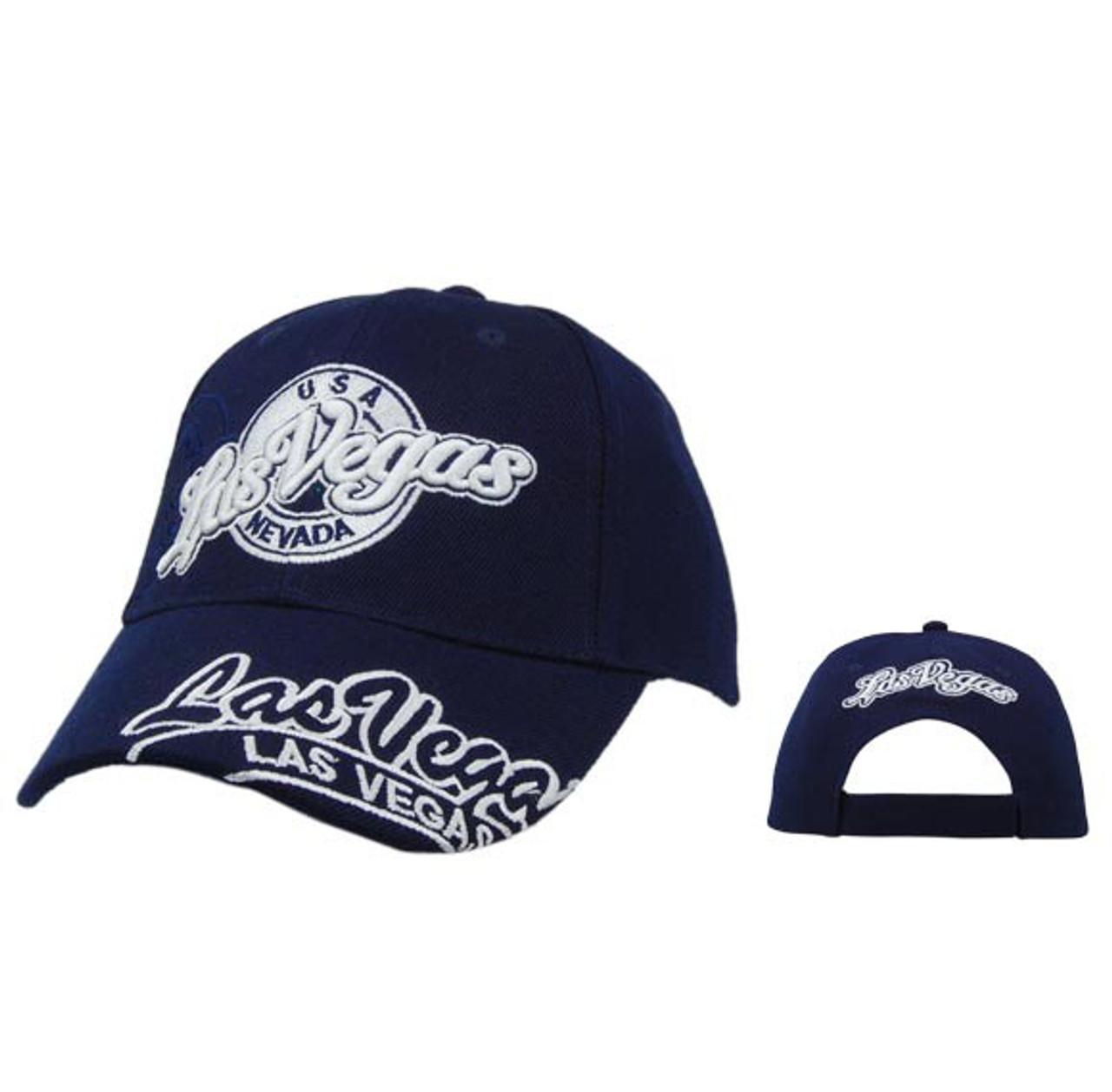 Blue Las Vegas Baseball Caps