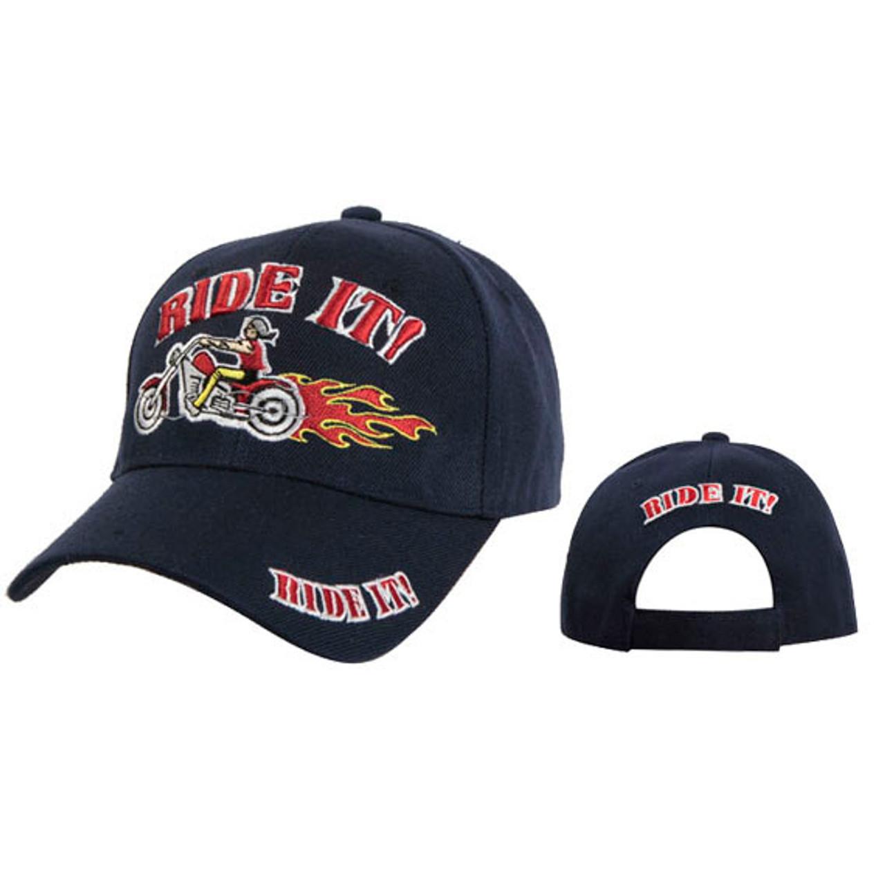 Wholesale Baseball Cap Ride It! Blue
