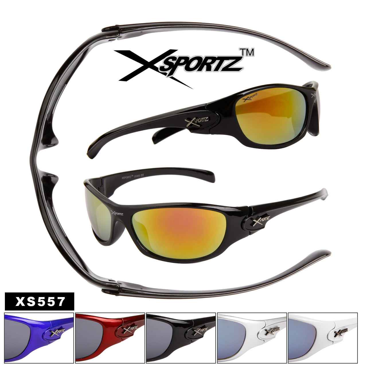 Xsportz™ Sports Wholesale Sunglasses - Style #XS557