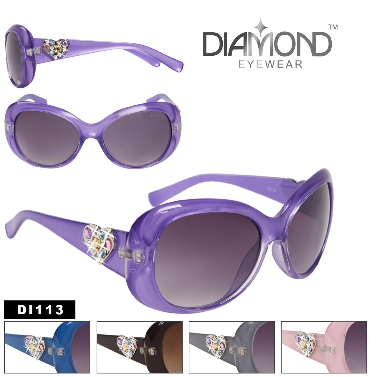 Hearts & Rhinestones Diamond Eyewear Sunglasses DI113