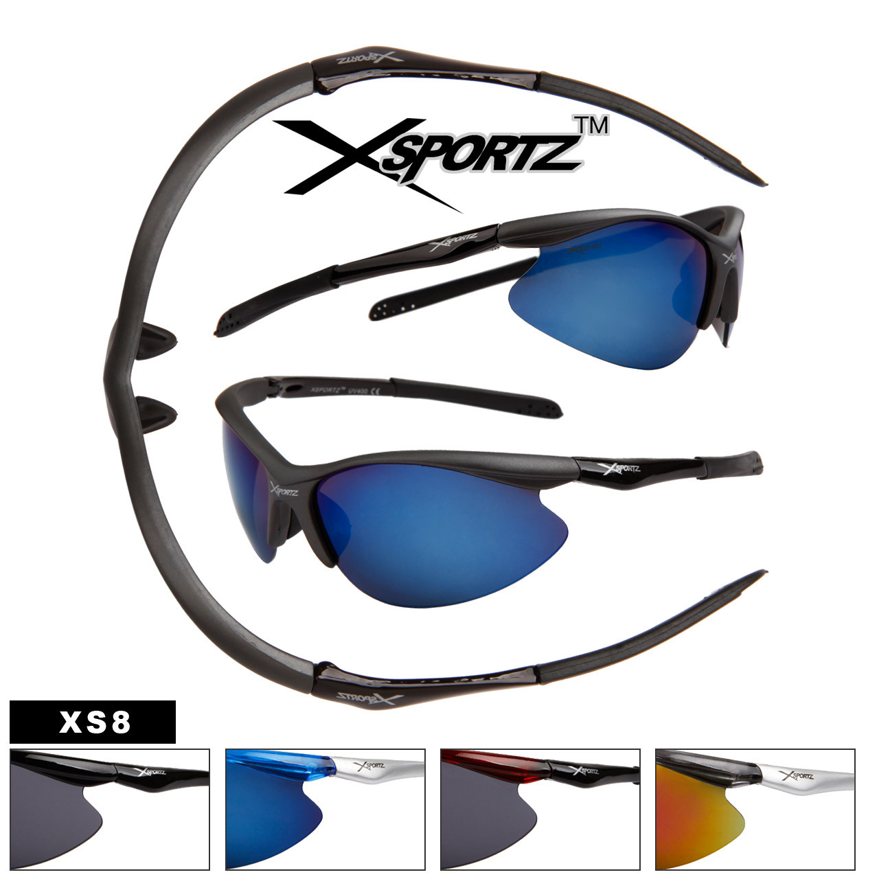 Xsportz™ Sports Sunglasses - Style # XS8