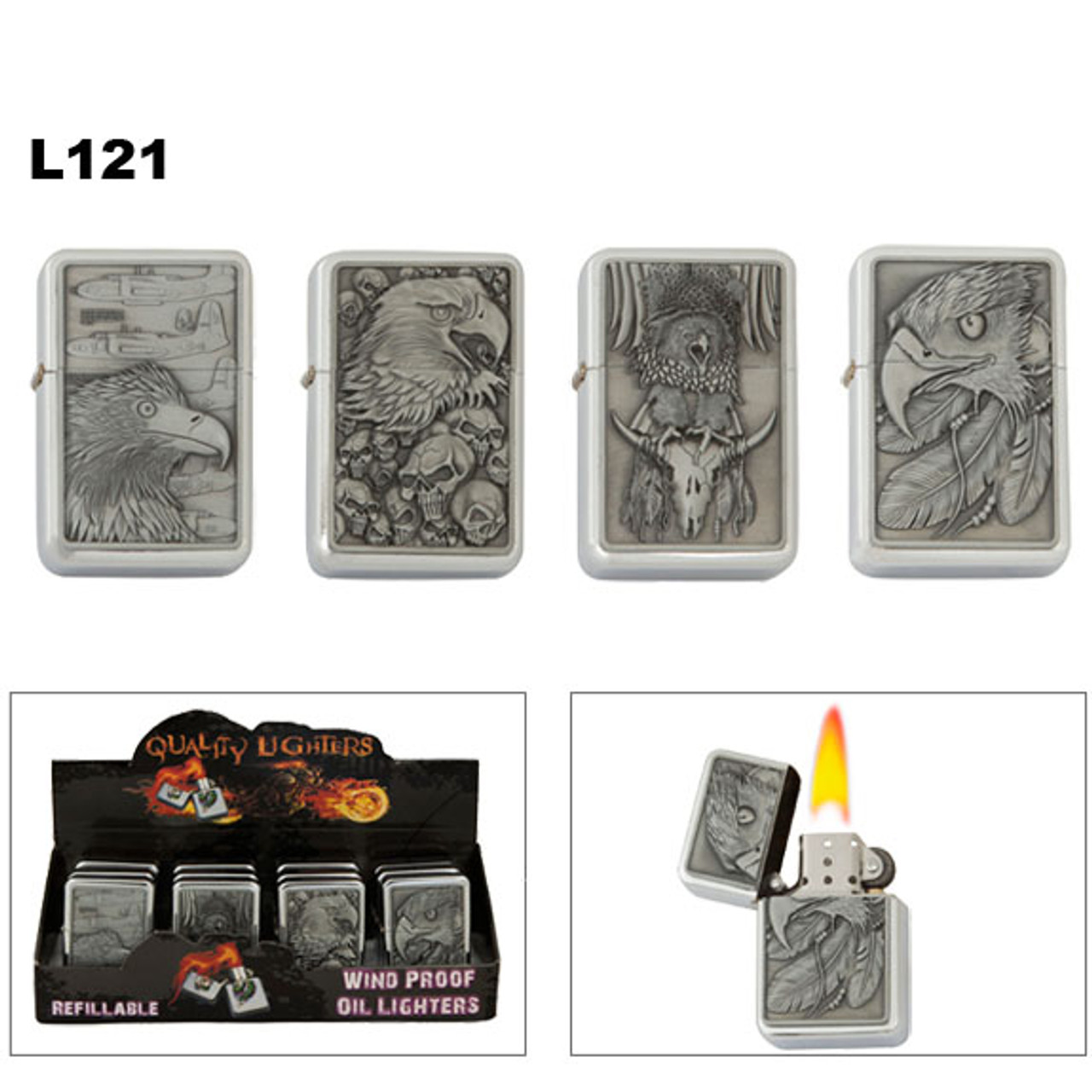 Oil Lighters Assorted Eagles