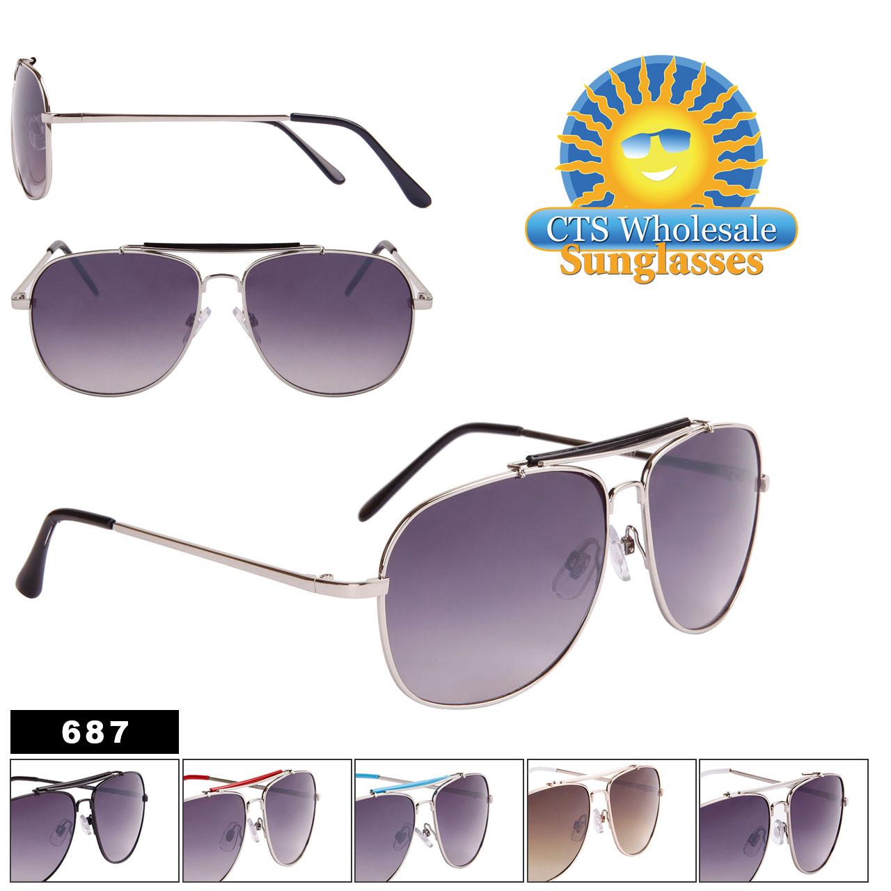Wholesale Aviator Sunglasses - Style #687
