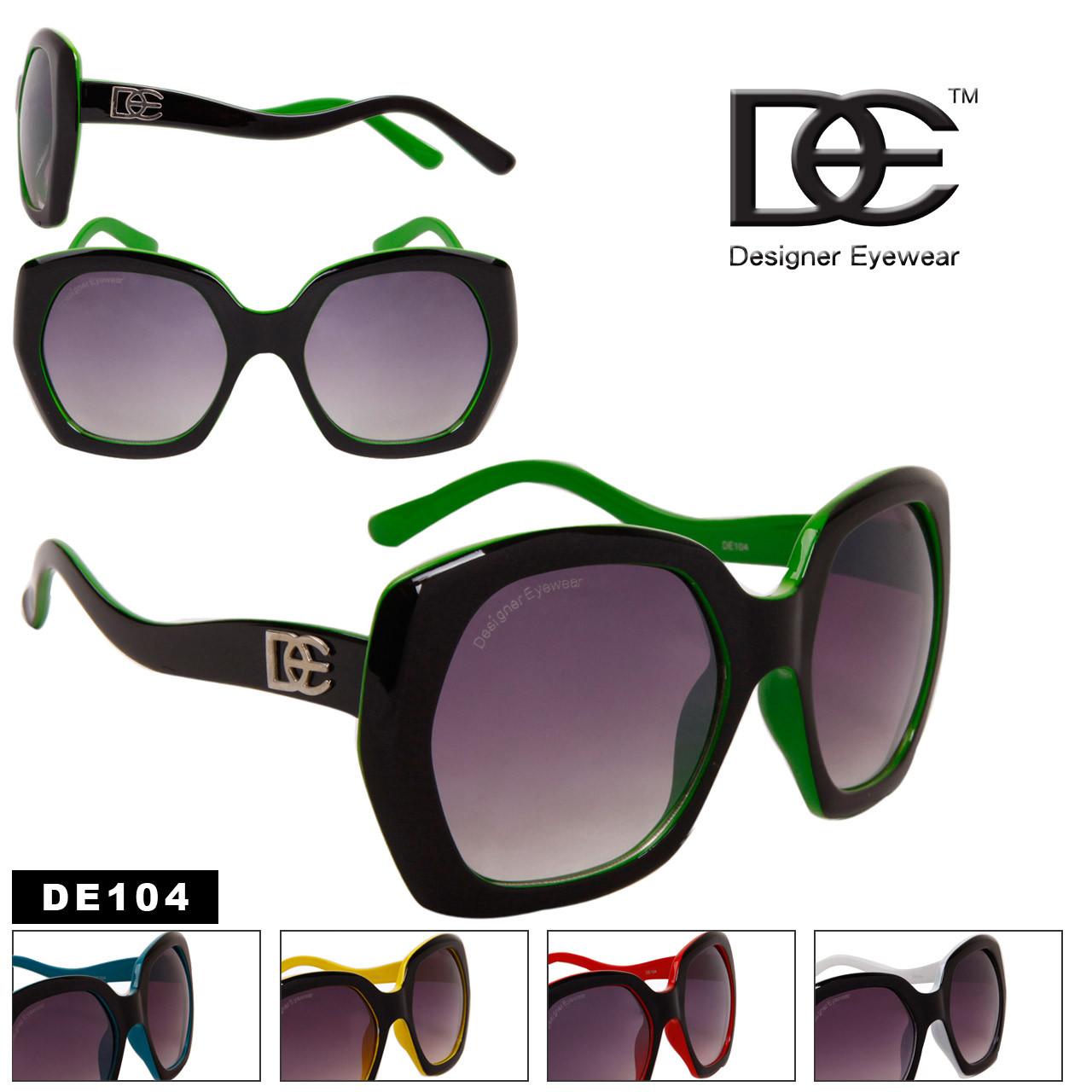 Vintage Big Lens Designer Eyewear DE104