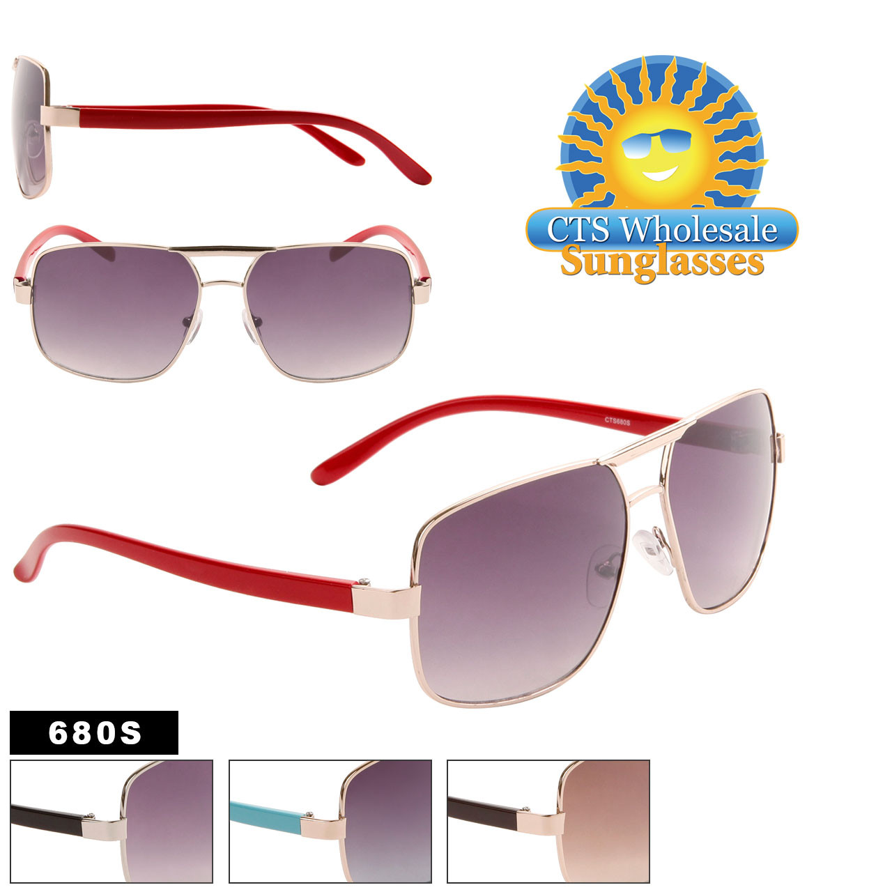 Aviator Sunglasses by the Dozen - Style #680S