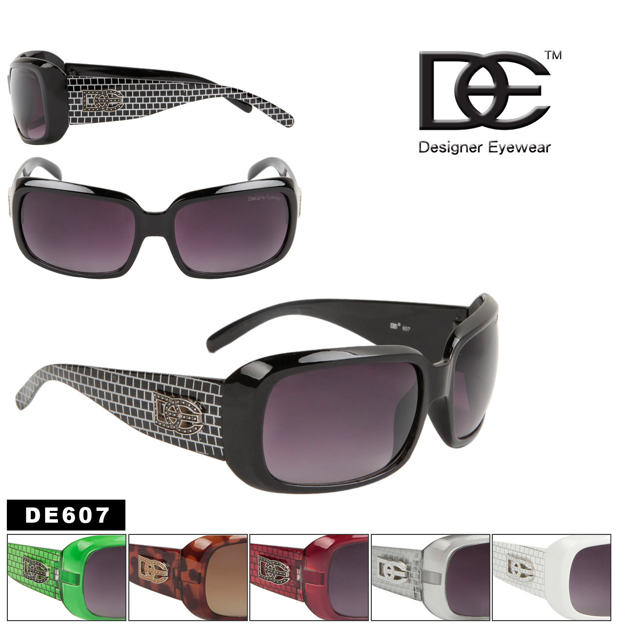 c03cf60d2a DE607 DE Designer Eyewear (1 doz.) Roxy Inspired Sunglasses