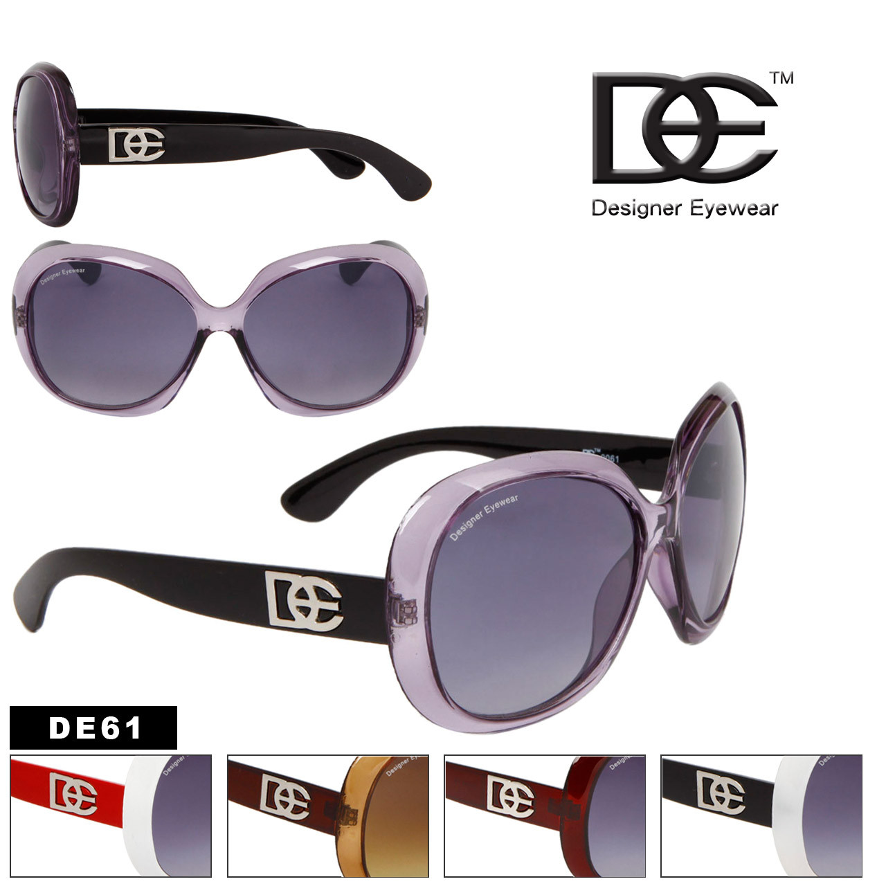 DE61 Designer Eyewear Women's Sunglasses