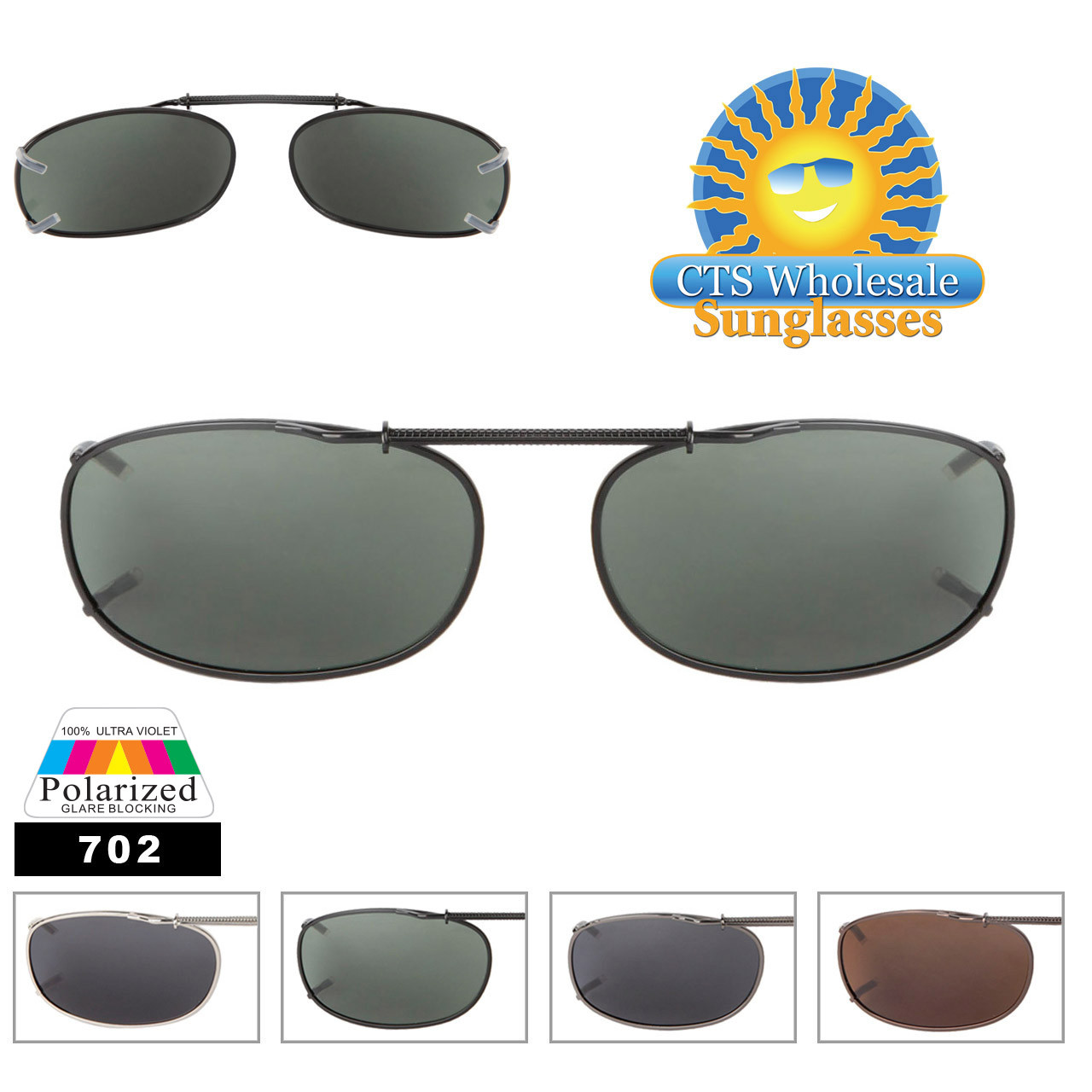 Wholesale Polarized Clip Ons 702