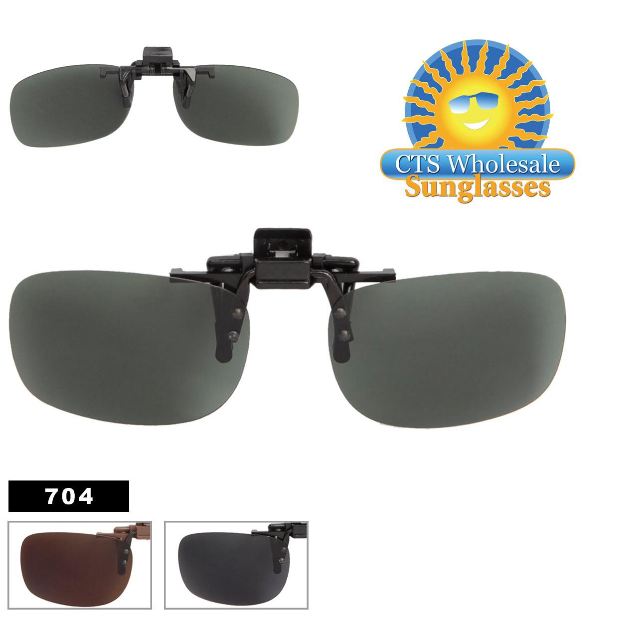 Polarized Wholesale Sunglass Clip Ons 704