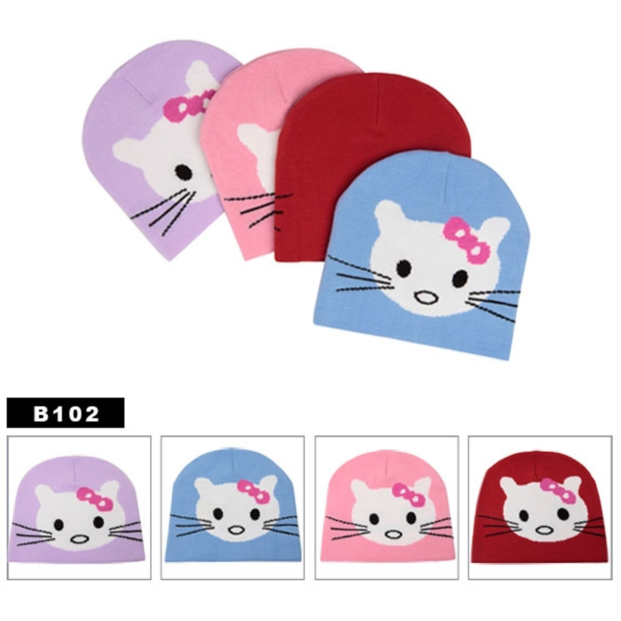 Meow, Meow Cute Kitten Caps.