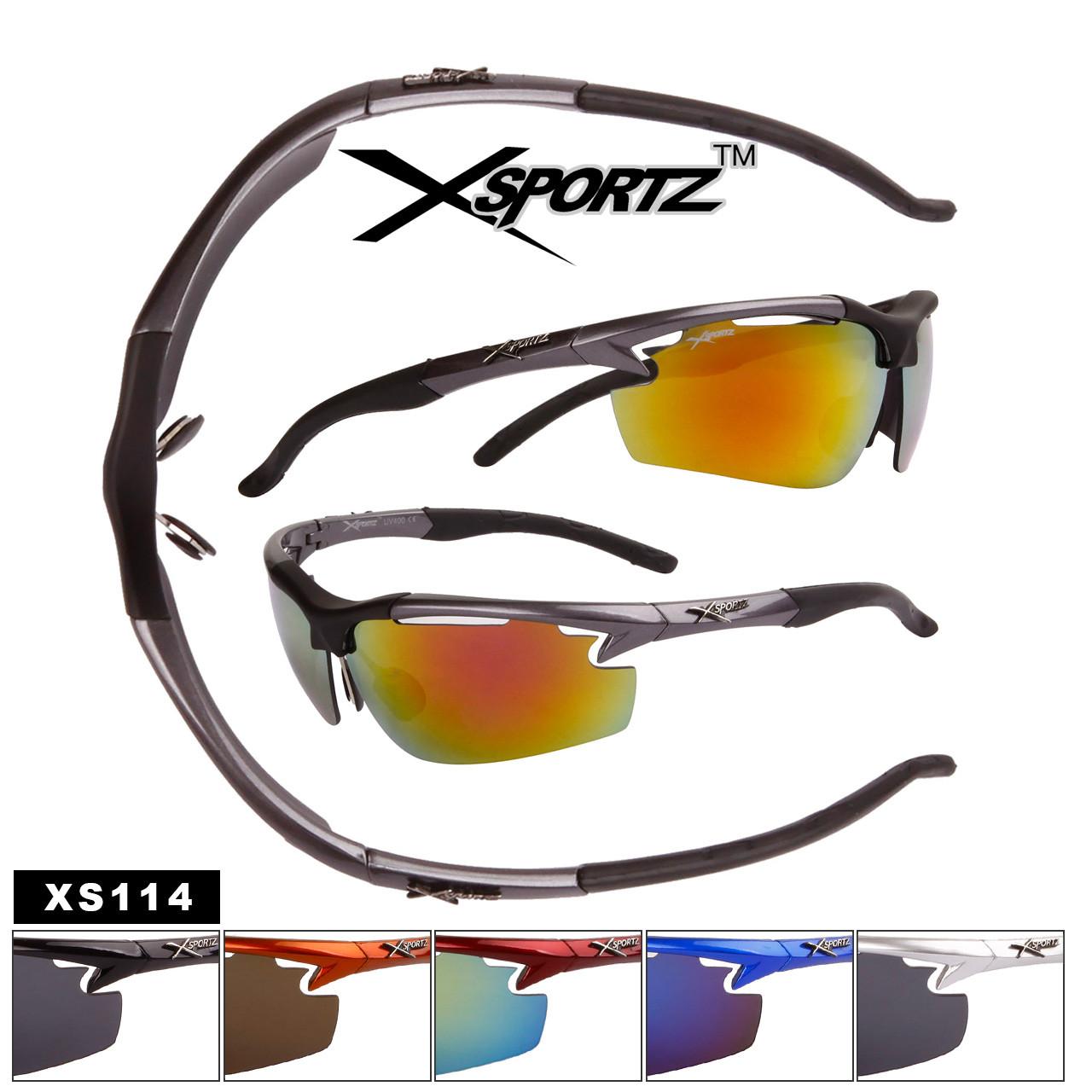 Xsportz™Half-Rim Wrap Around Sport Sunglasses - Style #XS114