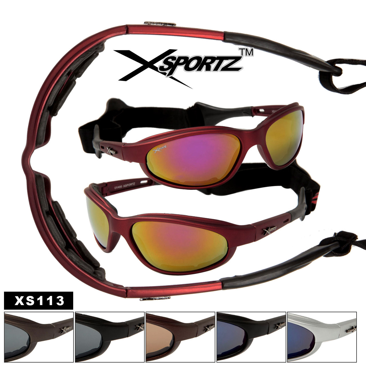 7b24e2781ad Wholesale Motorcycle Sunglasses Foam Padded - XS113