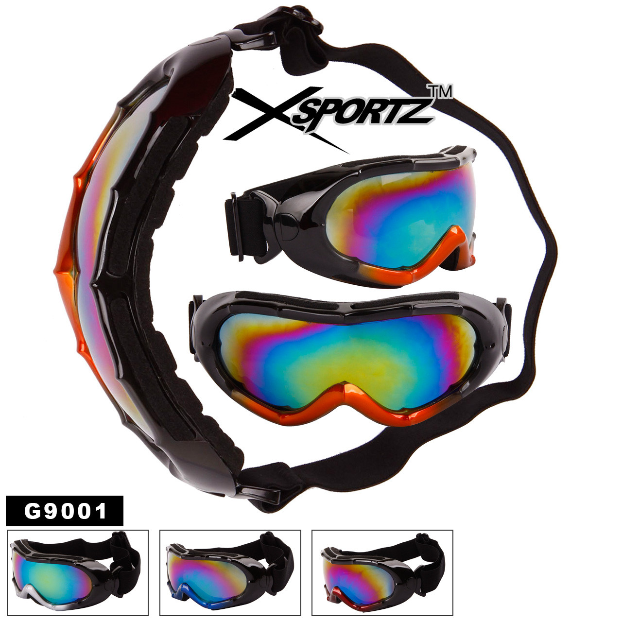 Wholesale Goggles Foam Padded Inside G9001
