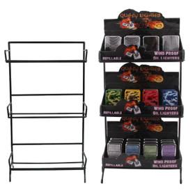 Display Rack for Oil Lighters | 3 Dozen Lighter Capacity