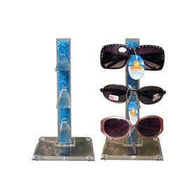 Blue Bead Sunglass Display Stand   Holds 3 Pairs