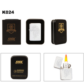 Wholesale Brass Lighter with Polished Chrome Finish K024