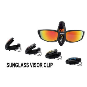 Visor Clips with Flames 0058