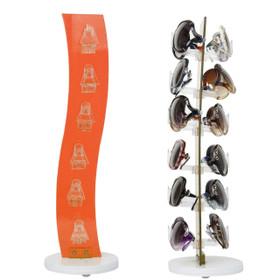 adb647454269 Acrylic Counter Top Rotating Sunglass Display Rack 7047 Orange (holds 12  pair) (1 pc.)