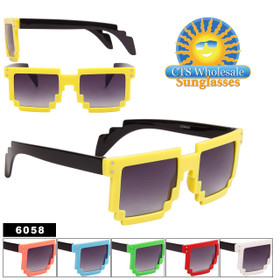 Pixelated Sunglasses Wholesale - Style #6058