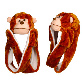 Wholesale Monkey with Long Arms Animal Hat A109
