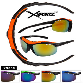 fe8050e2ab8 Xsportz™Wholesale Sports Sunglasses - Style   XS608 Foam Padded (Assorted  Colors) (12 pcs.)