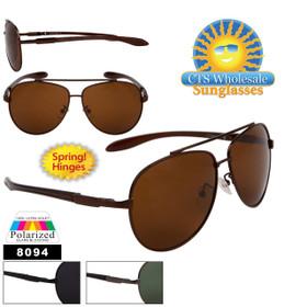 Polarized Aviator Sunglasses - Style #8094