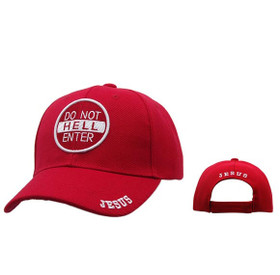 "Wholesale Christian Baseball Cap | ""Do Not Enter Hell""-Red"