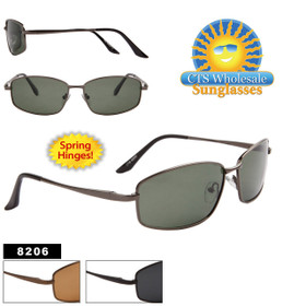 Polarized Sunglasses with Spring Hinges 8206