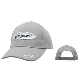 "Wholesale Christian ""Got Jesus?"" Cap~Grey"