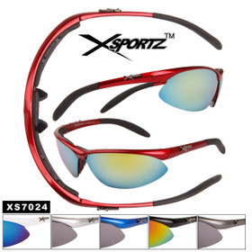 fa933316ca1 Xsportz™ Wholesale Foam Padded Sunglasses - Style  XS7024 (Assorted Colors)  (12 pcs.)