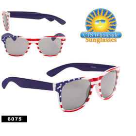 Wholesale California Classics Sunglasses ~ American Flag ~ 6075