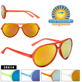 Wholesale Mirrored Aviator Sunglasses - Style #35614