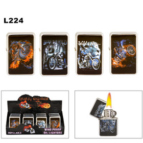 Oil Lighters Wholesale ~ Lighter Fluid NOT Included L224 (12 pcs.) Wild & Free