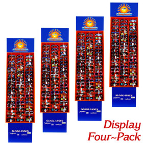 4 Pack - Cardboard Sunglasses Displays #7003