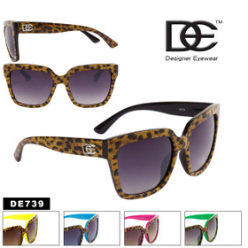 Boxy Cat Eye Cheetah Print Sunglasses - Style #DE739